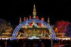 Jul marknadsför i Wien - Österrike arkivbild
