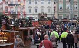 Jul marknadsför på kålmarknaden i Brno Royaltyfria Bilder