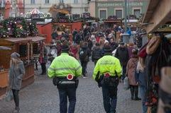 Jul marknadsför på kålmarknaden i Brno Royaltyfri Fotografi