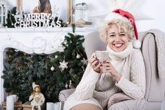 Jul x-mas, nytt år, vinterberömbegrepp Royaltyfri Fotografi