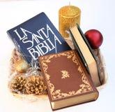 Jul med bibeln Royaltyfri Foto