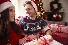 Jul med förälskelse royaltyfri foto