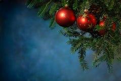 Jul med julgranen Royaltyfria Bilder