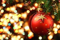 Jul med julgranen Royaltyfri Fotografi