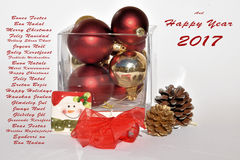 Jul med leende Arkivbild