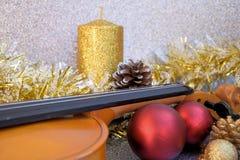 Jul med musik Royaltyfri Foto