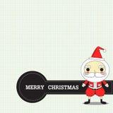 Jul med Santa Royaltyfria Bilder