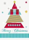 jul min version för portföljtreevektor Arkivfoto