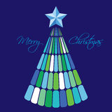 jul min version för portföljtreevektor Royaltyfri Fotografi