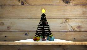 jul min version för portföljtreevektor Arkivbilder