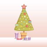 jul min version för portföljtreevektor vektor illustrationer