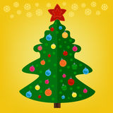 jul min version för portföljtreevektor Fotografering för Bildbyråer