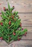 jul min version för portföljtreevektor Begrepp Fotografering för Bildbyråer
