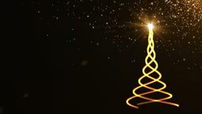 jul min version för portföljtreevektor Härlig abstrakt bakgrund lager videofilmer