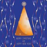 jul min version för portföljtreevektor kortjul som greeting Royaltyfria Foton