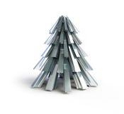 jul min version för portföljtreevektor metall för granträd Royaltyfri Bild