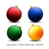 jul min version för portföljtreevektor Räcka bollar Apelsin Arkivbilder