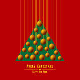 jul min version för portföljtreevektor Räcka bollar Apelsin Royaltyfria Foton