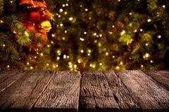 jul min version för portföljtreevektor Suddig julbakgrund, Royaltyfri Bild
