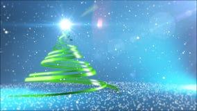 jul min version för portföljtreevektor stock video