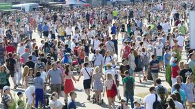 JUL 26, 2015 MOSCOW: Red bull flugtag day. stock video