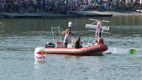 JUL 26, 2015 MOSCOW: Red bull flugtag day. stock video footage