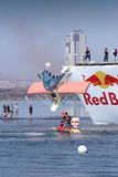 JUL 26, 2015 MOSCOW: Red bull flugtag day. stock image