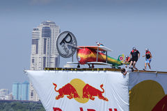 JUL 26, 2015 MOSCOW: Red bull flugtag day. stock photo
