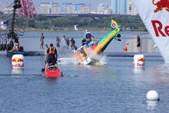 JUL 26, 2015 MOSCOW: Red bull flugtag day. Stock Photos