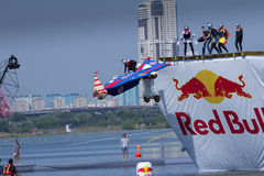 JUL 26, 2015 MOSCOW: Red bull flugtag day. Stock Photography