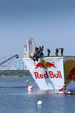 JUL 26, 2015 MOSCOW: Red bull flugtag day. Royalty Free Stock Image