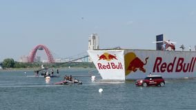 JUL 26, 2015 MOSCOW: Red bull flugtag day. stock footage