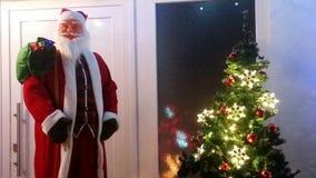 Jul Nikolaus Weihnacht Abend Arkivfoto