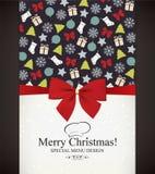Jul & nytt år royaltyfri illustrationer