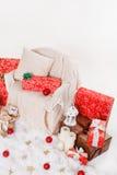 Jul nytt år, röd jul klumpa ihop sig Royaltyfria Foton