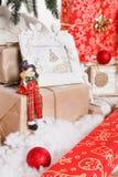 Jul nytt år, röd jul klumpa ihop sig Royaltyfria Bilder