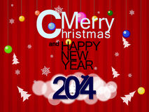 Jul och bakgrund för nytt år vektor illustrationer