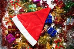 Jul och bandbakgrund för lyckligt nytt år Arkivbild