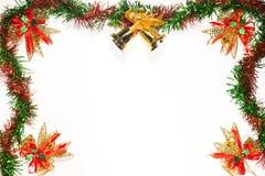 Jul och bandgräns för lyckligt nytt år Royaltyfri Fotografi