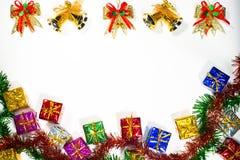 Jul och bandgräns för lyckligt nytt år Arkivfoto