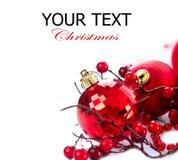 Jul och Baubles för nytt år Arkivbilder