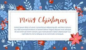 Jul och beståndsdel för nytt år, affisch för din design royaltyfri illustrationer