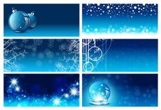 Jul och för hälsningkort för nytt år mallar Arkivbilder