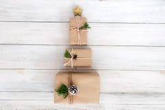 Jul och gåvor för nytt år, arkivfoto