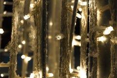 Jul och garnering för nytt år - glödande girlander fotografering för bildbyråer