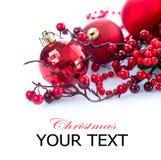 Jul och garneringar för nytt år Fotografering för Bildbyråer