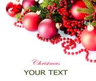 Jul och garneringar för nytt år Arkivbilder