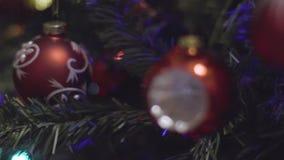 Jul och garneringbackgroung för nytt år Abstrakt suddig Bokeh ferie Blinkagirland julbilder tänder mer min portföljtree arkivfilmer