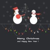 Jul och hälsningkort för nytt år Royaltyfria Bilder