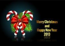 Jul och hälsningskort för nytt år Royaltyfri Foto
